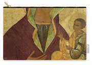 Virgin And Child Carry-all Pouch by Russian School