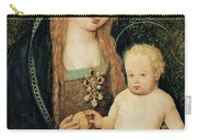 Virgin And Child With Pomegranate Carry-all Pouch by Hans Holbein the Younger