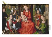 Virgin And Child With Saints Catherine Of Alexandria And Barbara Carry-all Pouch