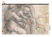 Virgin And Child With St. Anne Carry-all Pouch by Leonardo da Vinci
