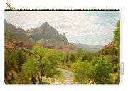 Virgin River Through Zion National Park 2 Carry-all Pouch