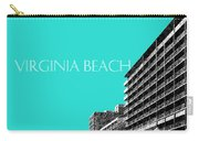Virginia Beach Skyline Boardwalk  - Aqua Carry-all Pouch