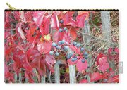 Virginia Creeper Fall Leaves And Berries Carry-all Pouch