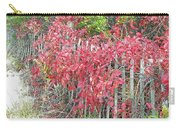 Virginia Creeper Vine On Dune Fence - Fall Colors Carry-all Pouch