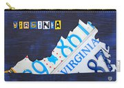 Virginia License Plate Map Art Carry-all Pouch