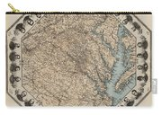 Virginia Map With Civil War Heroes Carry-all Pouch