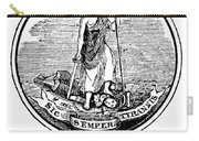 Virginia State Seal Carry-all Pouch