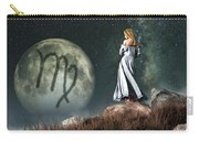 Virgo Zodiac Symbol Carry-all Pouch by Daniel Eskridge
