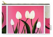 Visions Of Springtime - Abstract - Triptych Carry-all Pouch