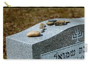 Visitation Stones On Jewish Grave Carry-all Pouch