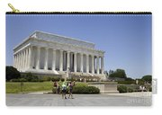 Visitors At The Lincoln Memorial Carry-all Pouch