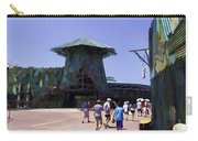 Visitors Heading Towards The Waterworld Attraction Carry-all Pouch
