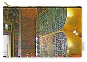 Visitors Pass Bottoms Of Feet Of Reclining Buddha In Wat Po In B Carry-all Pouch