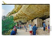 Visitors To Spruce Tree House On Chapin Mesa In Mesa Verde National Park-colorado Carry-all Pouch