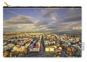 Vista Of Reykjavik  Carry-all Pouch