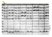 Vivaldi Manuscript Carry-all Pouch