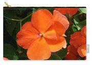 Vivid Orange Vermillion Impatiens Flower Carry-all Pouch