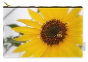 Vivid Sunflower With Bee Fine Art Nature Photography  Carry-all Pouch