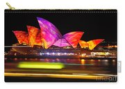 Vivid Sydney By Kaye Menner - Opera House ... Triangles Carry-all Pouch