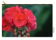 Vividly Red Geranium Carry-all Pouch
