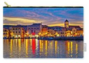 Vodice Waterfront Colorfu Evening Panorama Carry-all Pouch