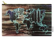 Volcanic Eruption World Map Carry-all Pouch