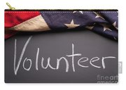 Volunteer Sign On Chalkboard Carry-all Pouch