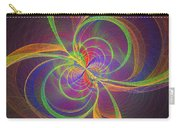 Vortex Abstract Digital Fractal Flame Art Carry-all Pouch