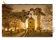 Vrbovec Winter Night Scene In Park Carry-all Pouch