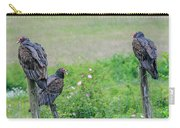 Vulture Fence Line 3 Carry-all Pouch