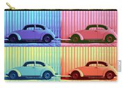 Vw Beetle Pop Art Quad Carry-all Pouch by Laura Fasulo