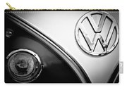Vw Emblem Black And White Carry-all Pouch