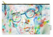 W. B. Yeats  - Watercolor Portrait Carry-all Pouch