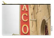 Waco Movie Theater With Sign, Waco Carry-all Pouch