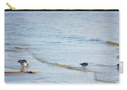 Waders Walking The Beach. Carry-all Pouch