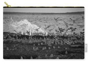 Wading Birds-black And White V2 Carry-all Pouch