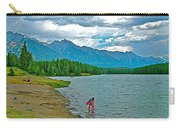 Wading In Johnson Lake In Banff Np-alberta Carry-all Pouch