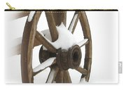 Wagon Wheel In Snow Carry-all Pouch