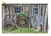 Wagon Wheels In Color Carry-all Pouch by Crystal Nederman