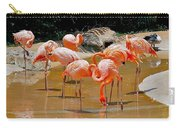 Waikiki Flamingos Carry-all Pouch