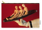 Waiter Serving 3 Dummies Carry-all Pouch by Bob Christopher