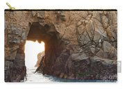 Waiting For Godot - Arch Rock In Pfeiffer Beach In Big Sur. Carry-all Pouch