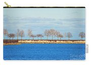 Waiting For Summer - Trees At The Edge Carry-all Pouch by Mary Machare