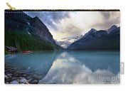 Waiting For Sunrise At Lake Louise Carry-all Pouch by Teresa Zieba