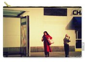Waiting For The Bus - New York City Street Scene Carry-all Pouch