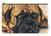 Waiting Bullmastiff Drawing Carry-all Pouch by Michelle Wrighton