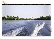 Wake From The Wash Of An Outboard Motor Boat In A Lagoon Carry-all Pouch