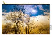 Walk Along The River Carry-all Pouch by Bob Orsillo