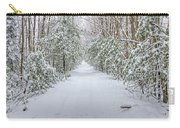 Walk In Snowy Woods Carry-all Pouch