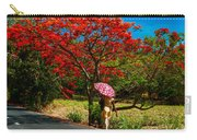 Walking Along The Road. Mauritius Carry-all Pouch